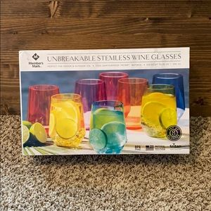 Unbreakable Stemless Wine Glasses (NEW IN BOX)